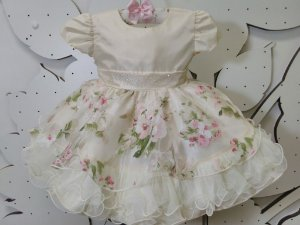 Vestido de Bebê Jardim Encantado - tam P ao G