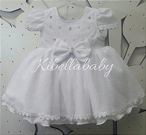 Vestido de Bebe Batizado - tam P ao G