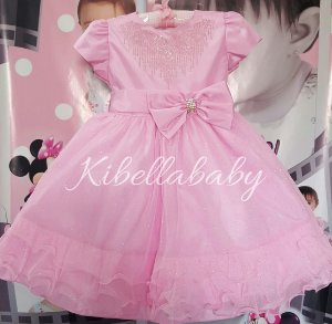 Vestido Infantil de Festa Princesa - tam 1 ao 3