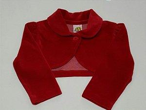 Bolero Infantil Vermelho Luxo Plush - tam 3 e 4