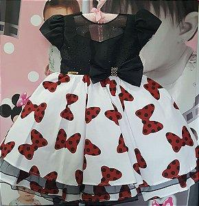 Vestido Minnie Festa TAM: 1 ao 3