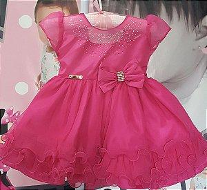 Vestido Infantil Bebê Pink  Tam P ao G