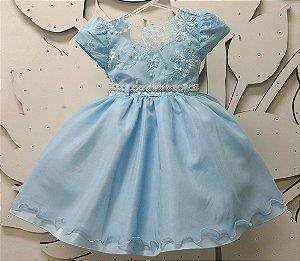Vestido Infantil Princesa Tam 1 ao 3