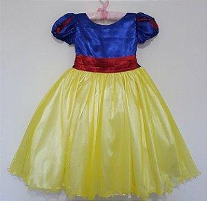 Vestido Infantil Branca de Neve Tam 4 ao 12