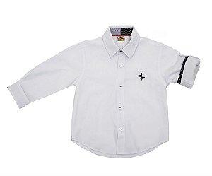 Camisa Social infantil Branca Tam 1 ao 3