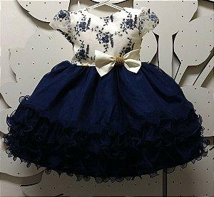 Vestido Infantil de Festa Tam 1 ao 3