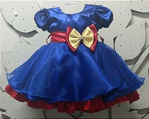 Vestido Infantil da Luna  Tam 1 ao 3
