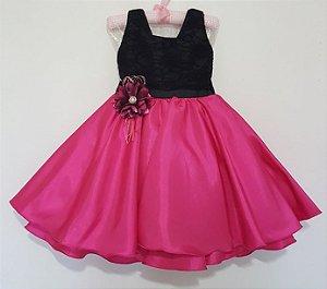 Vestido Infantil Pink Tam 4 ao 12