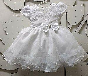 Vestido Infantil Batizado - tam 1 ao 3