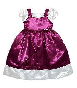 Vestido Infantil Marsha e o Urso Tam 1 ao 3