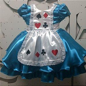 Vestido Infantil Alice tam: 1 ao 5