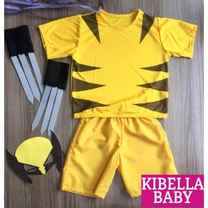 Fantasia Infantil Wolverine tam 1 ao 10