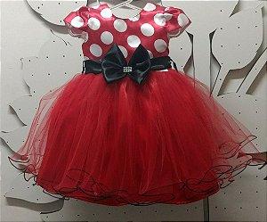 Vestido Infantil Minnie tam 1 ao 4
