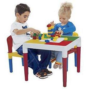 Mesa Infantil Atividades Com Blocos De Montar Bell Toy