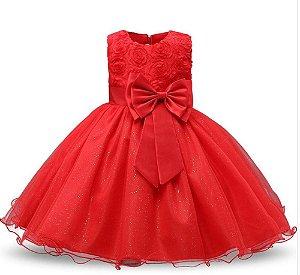 Vestido Infantil de Festa Tam 2 ao 8