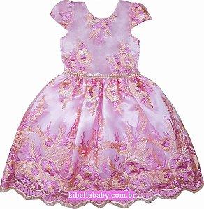 Vestido Infantil Princesa Tam 1 ao 12