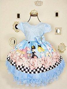 Vestido Infantil Alice No Pais das Maravilhas 1-3