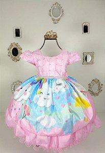 Vestido Infantil Chuva de Amor 1949