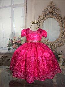 Vestido Infantil Realeza Pink