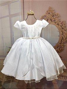 vestido branco formatura infantil