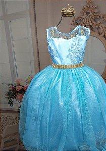 Vestido Cinderela e Frozen