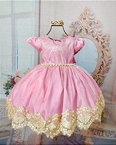 Vestido Barrado Rosé 2010