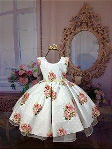Vestido Floral Infantil  1388