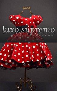 Vestido Minnie vermelha com Bolas Brancas 1687