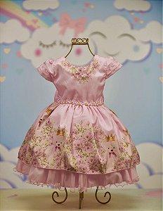 Vestido Ursinhas rosa 1928