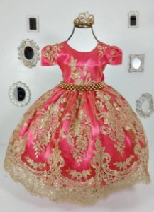 Vestido Realeza Pink 2190