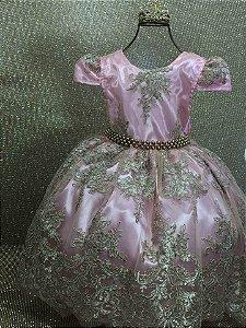 Vestido Realeza Rosa 2190
