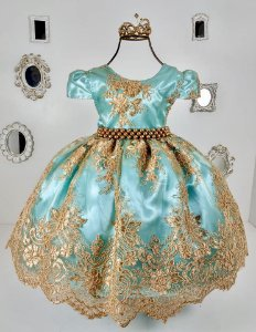 Vestido Realeza Verde 2190
