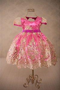 Vestido Realeza Pink 1829