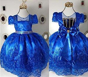 Vestido Realeza Azul Royal 2192