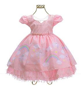 vestido Rosa Chuva de Amor e chuva de benção