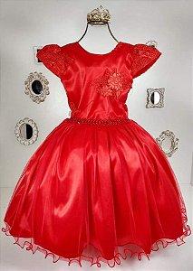 Vestido Vermelho infantil 1962