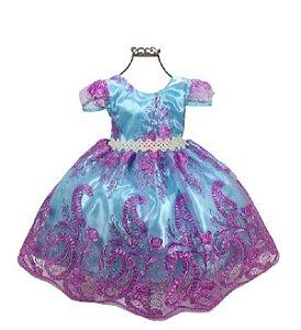 Vestido Infantil Realeza Ariel 2202