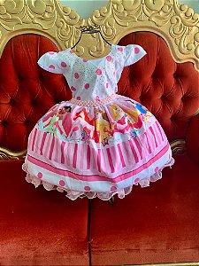Vestido infantil rosa princesas