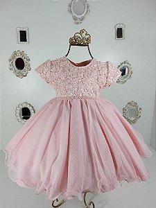 Vestido Rosa Chá 2388
