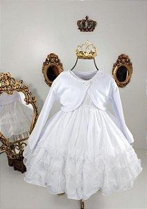 Vestido Infantil branco para batismo