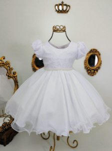 Vestido infantil Branco de luxo 2454