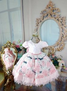 Floral rosa luxoso Tema Jardim 1804