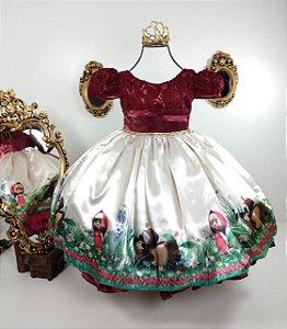 Vestido infantil Masha e o urso 325