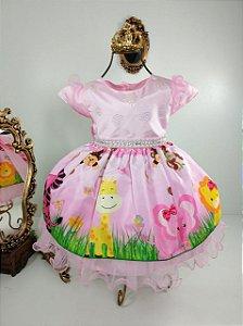 Vestido Infantil Safari 2075