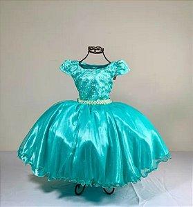 Vestido Glitter Baby  Verde 2140