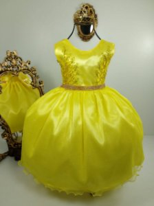 Vestido Glitter Baby Amarelo 2140