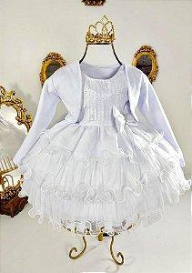 Vestido branco de bebê para batismo 1833