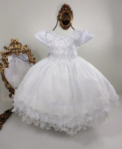 Vestido Infantil Branco Guipir 1846