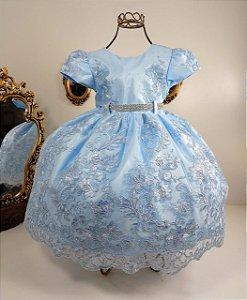 Vestido Infantil Realeza Azul 1817