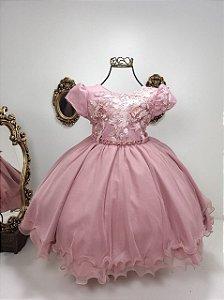 Vestido infantil Rose com flores 1815